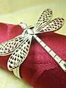 Dragonfly Servett Ring, Metall, 4cm, Set med 12,
