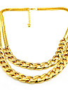 Shixin® Fashion Double Chain Alloy Choker Necklace(1 Pc)