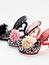 Women\'s Summer / Fall Heels Leatherette Party & Evening Stiletto Heel Flower Black / Pink / Red
