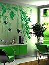 Landscape Green Willow and Swallow Wall Stickers
