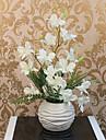18 «arrangement d\'orchidee H Blanc Violet avec la boule Vase