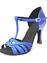 Zapatos de baile (Negro/Azul/Rojo/Plata/Oro) - Danza latina - Personalizados - Tacon Personalizado
