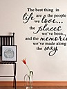 Words Quotes Wall Stickers the Best Thing Art Home Decoration Wall Decal 60 x 60cm