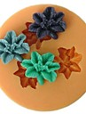 blomma formad baka fondant tårta mögel, l4.7cm * w4.7m * h1cm