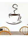 jiubai ™ kaffekopp mönster vägg klistermärke väggdekal, 44cm * 60cm