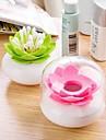 Lotus Forme porteurs plastique Tampons (couleurs assorties)