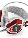 xiberia v6 hörlurar 3.5mm usb över örat lysande stereo gaming med mikrofon volymkontroll för datorn