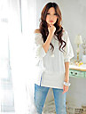 Women\'s Trendy OFF-Shoulder Cotton Blends Top T-Shirt