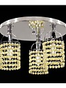 Max 40W Modern/Contemporary Crystal Electroplated Metal Chandeliers / Flush Mount Living Room / Bedroom / Dining Room