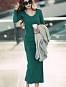 sanfenzise ™ Frauen mit V-Ausschnitt bodycon maxi plus Groessenkleid