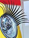 -jenvipper Car Dekorativ Vehicle Forlygte Sticker (Pair)