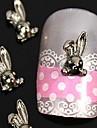 10pcs 3d bricolage alliage de lapin art de la decoration des ongles