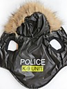 Chat / Chien Pulls a capuche Noir Vetements pour Chien Hiver Lettre et chiffre / Police/Militaire