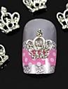 10st 3d diy strass kronan för fingertopparna legering nagel konst dekoration