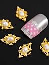 10st golden romb pärla till fingertopparna tillbehör nail art dekoration