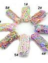 latex mixt cauciuc siliconic benzi multicolors fluorescență curcubeu stil război de țesut de culoare cu 600pcs benzi, 24 s-clipuri