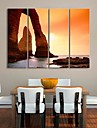 Stretched Canvas Art  Coast Sunset Landscape Painting Set of 4