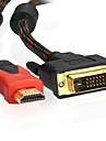 1m hdmi v1.4 3.28ft vers DVI 24 + 1 m / m de cable pour ps3
