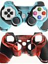 Protective Dual-Color Silicone Skin Cover Case for PS3 Controller Free Shipping