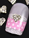 10pcs    Clear Rhinestone Silver Heart For Finger Tips Jewelry Accessories Nail Art Decoration