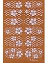 yemannvyou®2x14pcs doordringen 3d diamant transparant wit kant nail art ultradunne stickers tz062