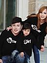 Family\'s Fashion Joker Leisure Cute Parent Child With Hood Sweatshirts (Random Pattern)