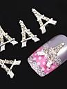 10pcs eiffel Silver Tower accessoires strass bricolage art de la decoration des ongles