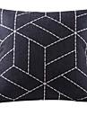 svart geometriska bomull / linne dekorativa örngott