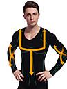 Mannen bantning kalsonger skjorta långärmad body shaper fast magen mage byst nylon svarta ny102