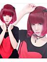 Perruques de lolita Punk Degrade de Couleur Court / Bob Rouge Perruques de Lolita 35 CM Perruques de Cosplay Mosaique Perruque Pour Femme