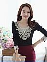 Women\'s Lace Decor Long Sleeve T-shirt