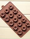 15 trous de moules a chocolat gateau en forme de chateau de la Couronne de glace gelee, silicone 22 × 11 × 2 cm (8,7 x 4,3 x 0,8 pouces)