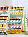 set om 5 moderna geometriska bomull / linne dekorativa örngott