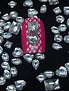 100st mix formar harts diamant tillbehör ingår inte rutan 3d nagel konst dekoration
