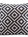 1 pcs Coton/Lin Housse de coussin,Carreaux Moderne/Contemporain