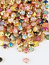 500st färgrik pärla metallkantlist nagel konst dekorationer