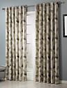 Två paneler Rustik Löv Beige Bedroom Polyester gardiner draperier