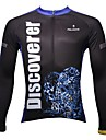 PALADIN® Maillot de Cyclisme Homme Manches longues Velo Respirable Sechage rapide Resistant aux ultraviolets Hauts/Tops 100 % Polyester