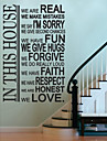 JiuBai® House Rule Room Decoration Wall Sticker Wall Decal