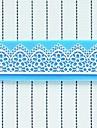 dentelle gateau au chocolat fondant argile de resine silicone bonbon tapis de moule, 16x5x0.3cm
