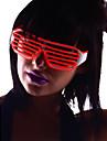 lysa upp nyanser glasögon med röd el tråd ledde glöd solglasögon 2AA batterier