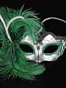 Masque Squelette/Crane Fete / Celebration Deguisement d\'Halloween Vert Couleur Pleine Masque Halloween Feminin PVC