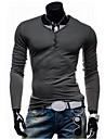 Men\'s Casual Fashion  V Collar Long Sleeve  T-Shirt