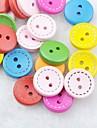 färgstarka sömnad scrapbook scraft diy träknappar (10 st slumpvis färg)
