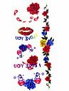 Tatueringsklistermärken - Mönster/Waterproof - Blomserier - till Dam/Girl/Vuxen/Tonåring - Multifärgad - Papper - #(1) - styck #(18.5*8.5)