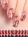 12 Sticker Manucure  Autocollants de transfert de l\'eau Autocollants 3D pour ongles Abstrait Maquillage cosmetique Manucure Design