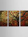 Peint a la main A fleurs/Botanique Trois Panneaux Toile Peinture a l\'huile Hang-peint For Decoration d\'interieur