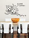 väggdekorationer väggdekaler, kaffe kök heminredning väggmålning pvc väggdekorationer