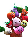 10st frukt med uttryck plysch fingerdockor barn pratar prop
