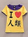 Inspirerad av Inget spel inget liv Cosplay Animé Cosplay-kostymer Cosplay T-shirt Lappverk Tryck Gul Lila Kort ärm T-shirt För Man